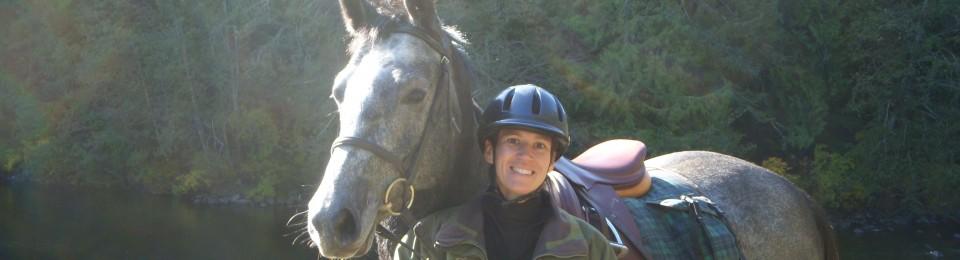 una chica y su caballo