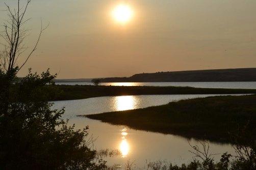 Landing sunset