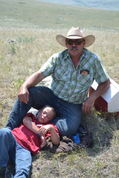 Clint and grandson Derson.