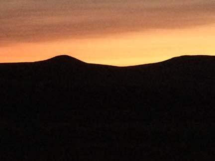 wood mtn sunset